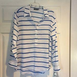 NWT Apt 9 blue white striped tunic